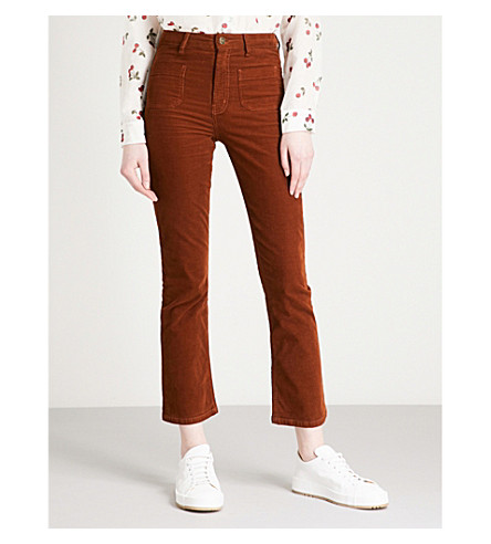 THE KOOPLES High-rise skinny corduroy jeans (Oraa6