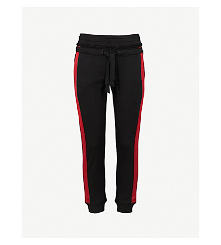 THE KOOPLES Striped-trim cotton-blend jogging bottoms (Bla01