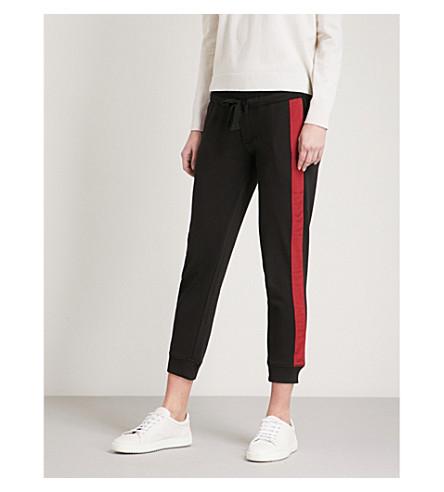 THE KOOPLES Striped-trim cotton-blend jogging bottoms (Bla01