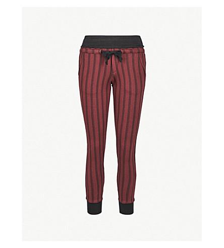 THE KOOPLES Striped slim-fit cotton-blend jogging bottoms (Bla22