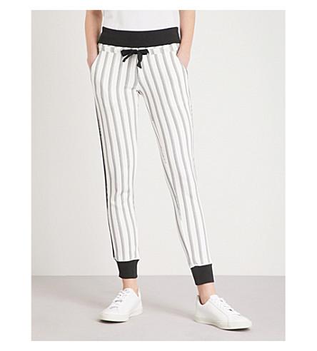 THE KOOPLES Striped slim-fit cotton-blend jogging bottoms (Bla28
