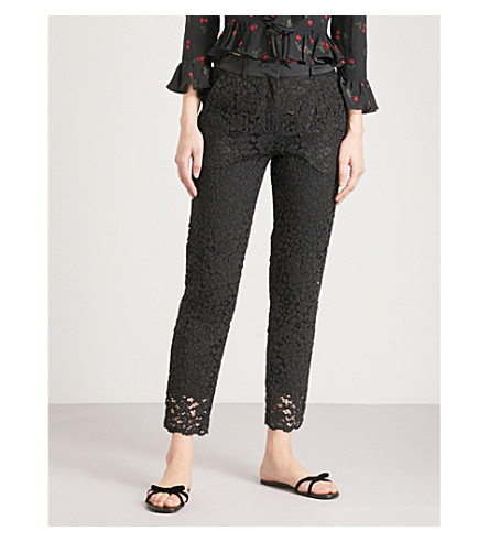 THE KOOPLES Openwork floral lace trousers Bla01 Cheapest Price Online Where Can I Order Sale Find Great Release Dates Cheap Online Free Shipping The Cheapest A4rUeoZmgJ