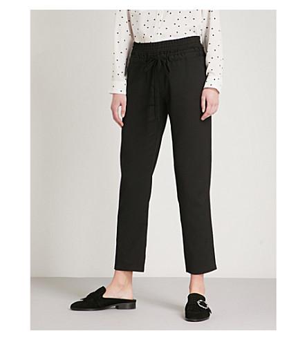 THE KOOPLES Slim-fit straight woven-twill trousers (Bla01