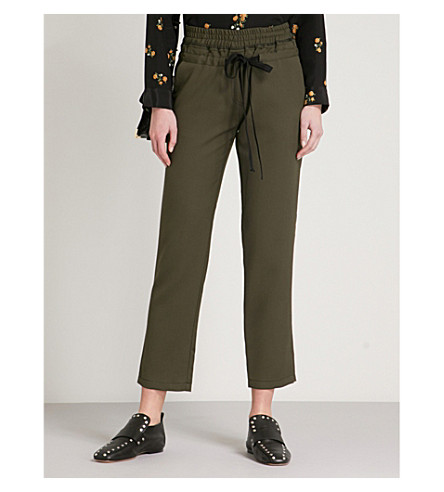 THE KOOPLES Slim-fit straight woven-twill trousers (Kak01