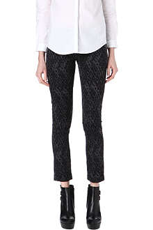 THE KOOPLES SPORT Snake-print jacquard trousers