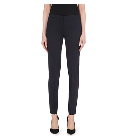 THE KOOPLES Tapered stretch-wool trousers (Dark+navy