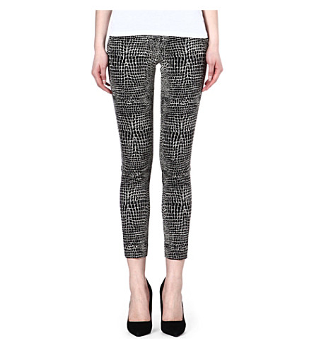THE KOOPLES Crocodile jacquard trousers (Black-ecru