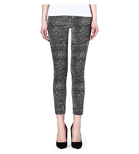 THE KOOPLES Crocodile jacquard trousers (Black-ecru