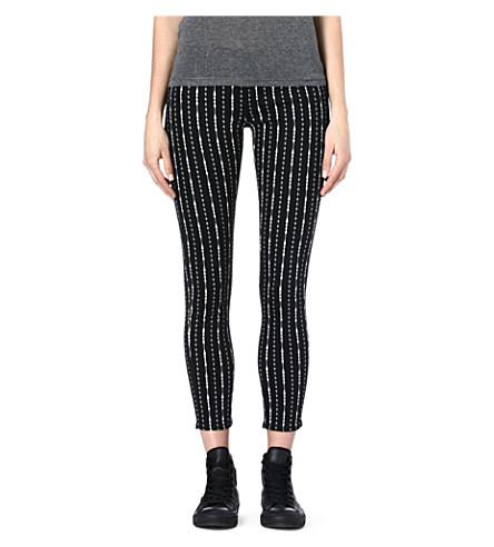 THE KOOPLES SPORT Floral-print skinny mid-rise jeans (Black