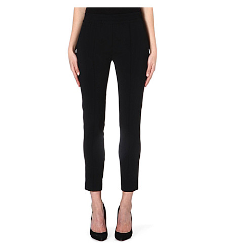 THE KOOPLES Satin-detail crepe trousers (Black