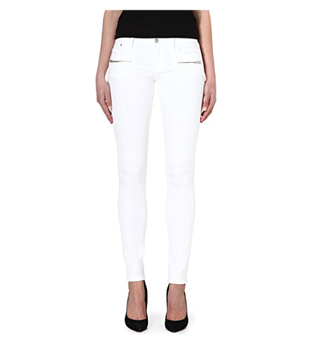 THE KOOPLES Slim-fit biker jeans (White