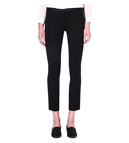 THE KOOPLES Tapered wool-blend trousers (Black
