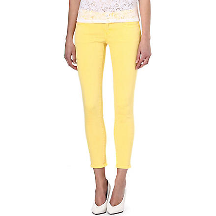 THE KOOPLES SPORT Coloured skinny mid-rise jeans (Yellow