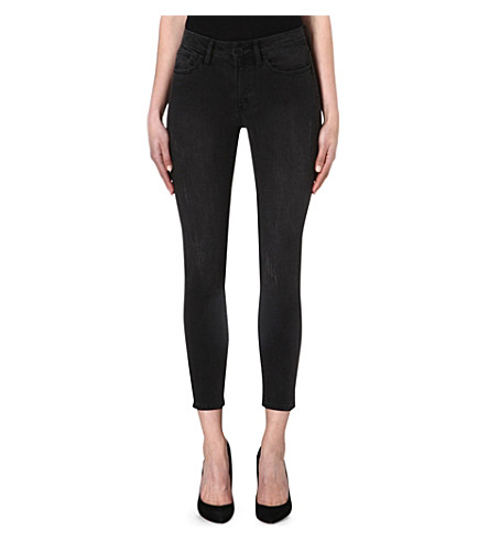 THE KOOPLES High-rise skinny jeans (Grey