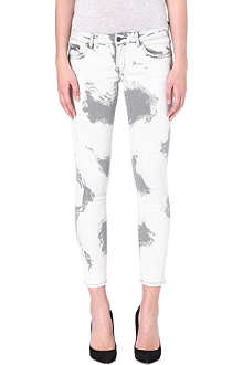 THE KOOPLES Bleach stain mid-rise skinny denim jeans
