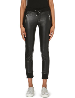 THE KOOPLES SPORT Leather-panelled trousers