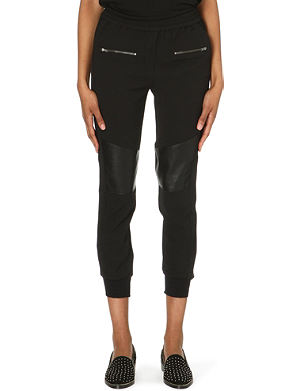 THE KOOPLES Faux-leather panelled cropped trousers