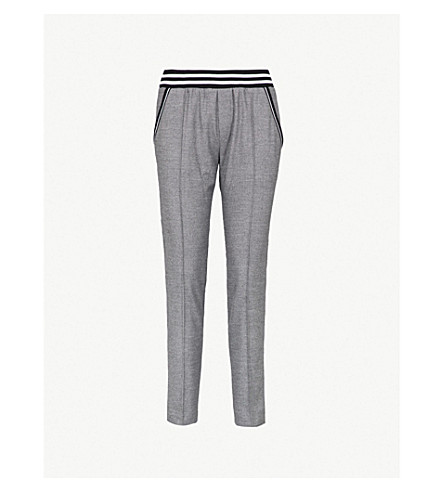 THE KOOPLES Striped-panel felt trousers (Bla02