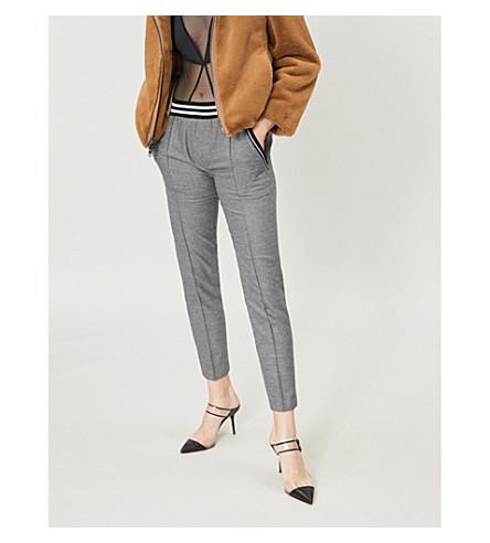 THE KOOPLES Striped-panel felt trousers (Bla02