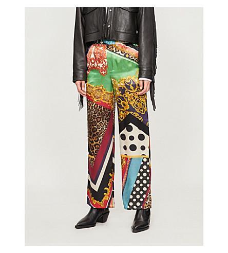 THE KOOPLES 印刷休闲版型真丝裤子 (Mu01