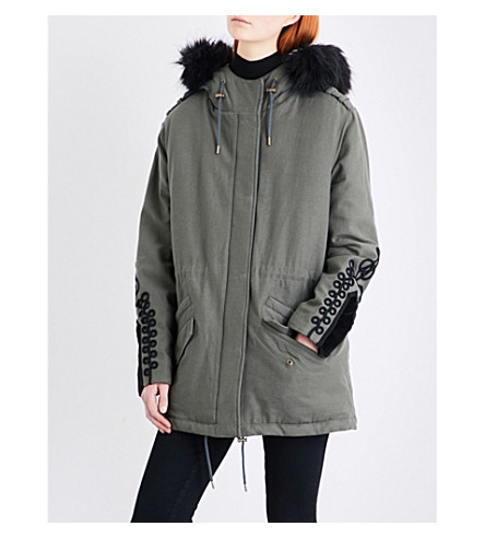 THE KOOPLES Embroidered-detail cotton parka coat (Kak01