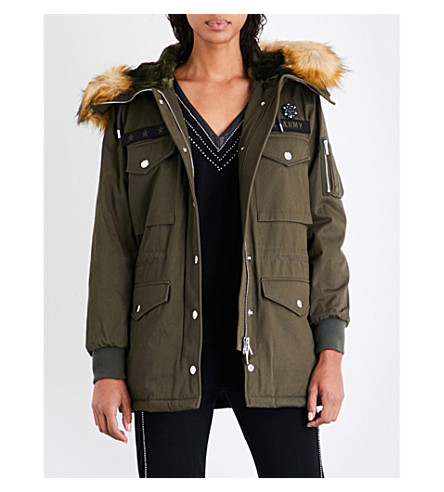THE KOOPLES SPORT Patch-embroidered cotton parka coat (Kak01