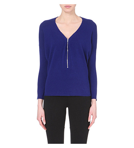 THE KOOPLES Zipped wool jumper (Electric blue