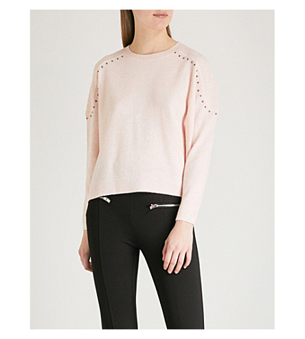 THE KOOPLES Embellished wool and cashmere-blend jumper (Pin01