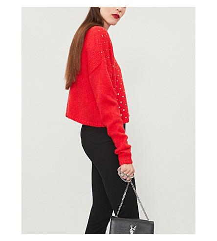THE KOOPLES Crystal-embellished knitted jumper (Red01
