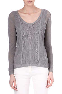 THE KOOPLES SPORT Linen-blend knit jumper