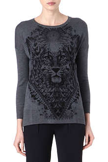 THE KOOPLES Tiger head merino wool jumper