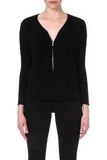 THE KOOPLES SPORT Wool and cashmere sweater with zip neck