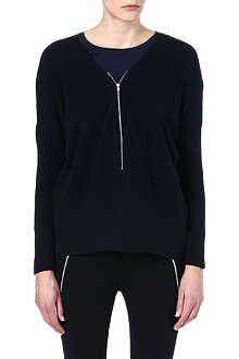 THE KOOPLES SPORT Zip cashmere-blend jumper