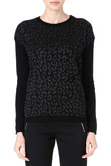 THE KOOPLES Metallic leopard-print jumper