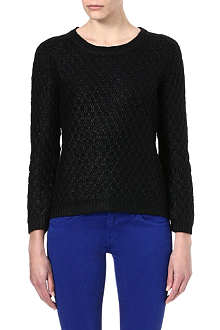 THE KOOPLES SPORT Gloss-finish textured jumper