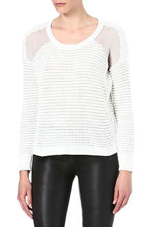 THE KOOPLES Sheer-panel knitted jumper