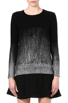 THE KOOPLES Metallic ombré cable-knit jumper