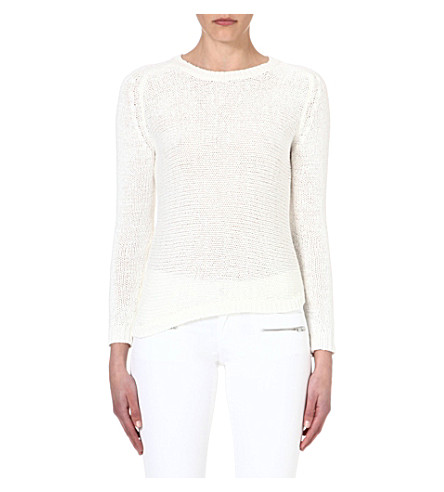 THE KOOPLES SPORT Knitted cotton-blend jumper (White