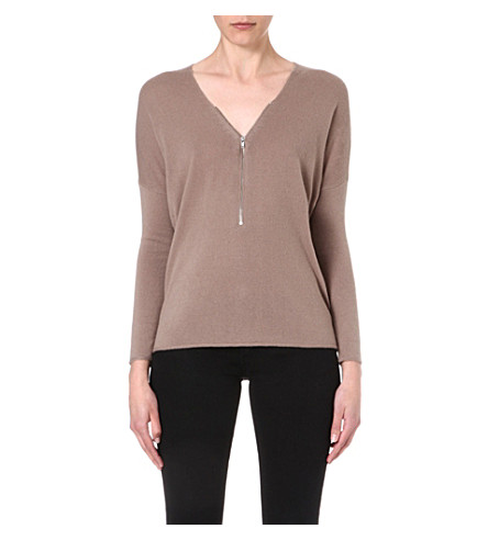 THE KOOPLES SPORT Zip front jumper (Taupe