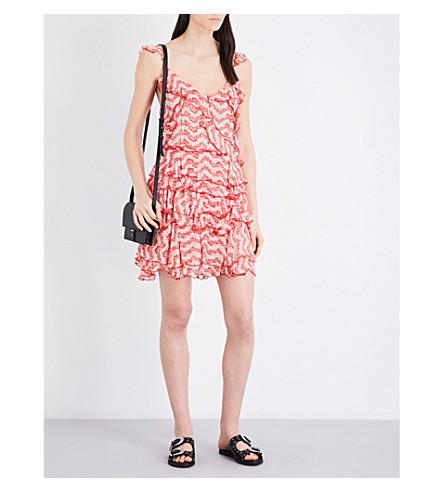 THE KOOPLES Floral-print silk-chiffon dress (Red01