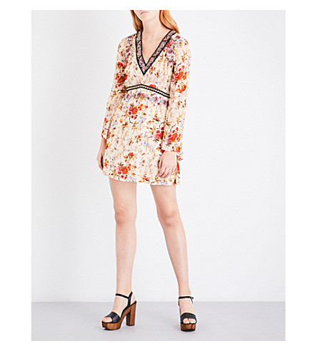THE KOOPLES Fleurs d'Artifice crepe mini dress (Mu01