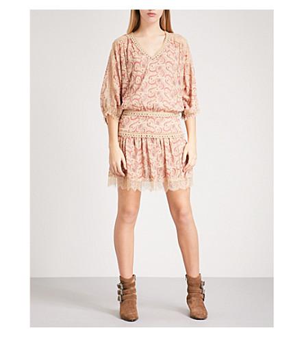 THE KOOPLES Paisley-pattern silk-chiffon dress (Bei81
