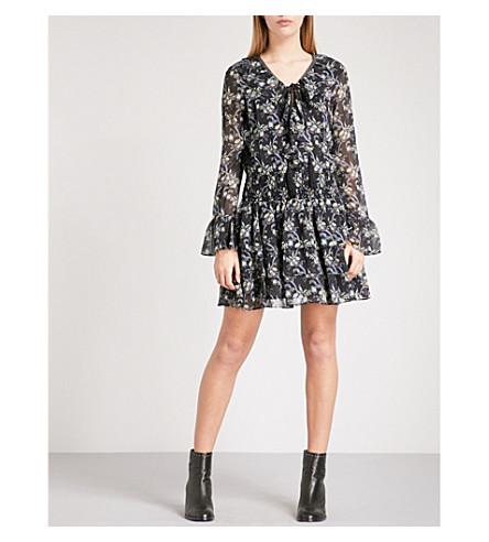 THE KOOPLES Floral-print silk mini dress (Blaa2