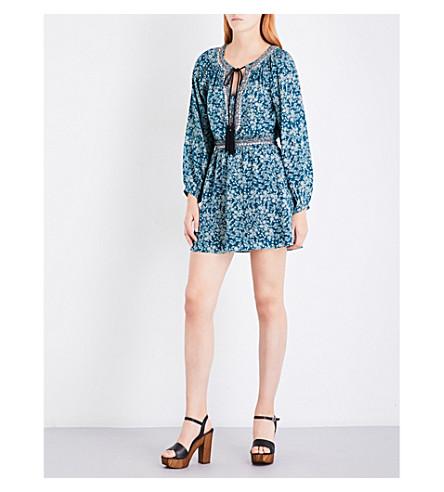 THE KOOPLES Waterlily-print silk-crepe dress (Blu26