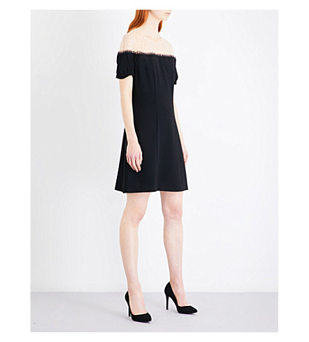 THE KOOPLES Two-tone crepe dress (Bla06