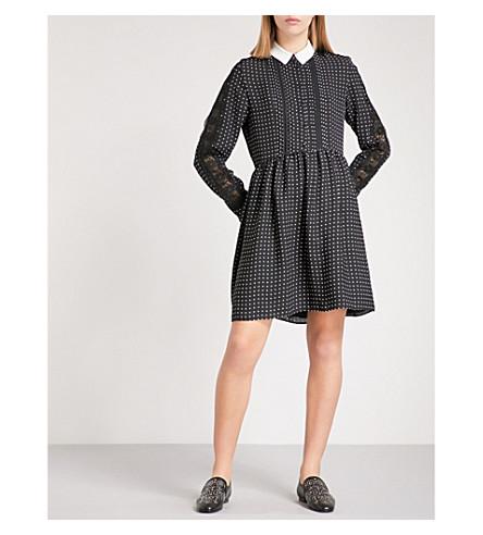 THE KOOPLES 波点褶裥绉织衬衫连衣裙 (Bla28