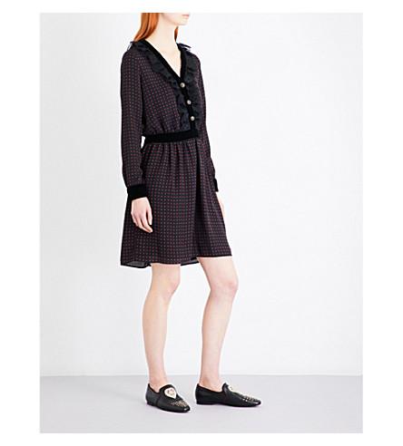 THE KOOPLES Polka dot woven dress (Bla26