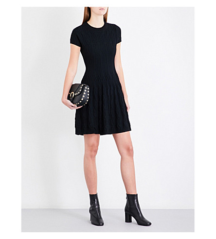 THE KOOPLES Fit-and-flare knitted dress (Bla01