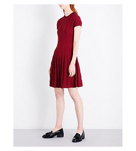 THE KOOPLES A字形针织连衣裙 (Red01