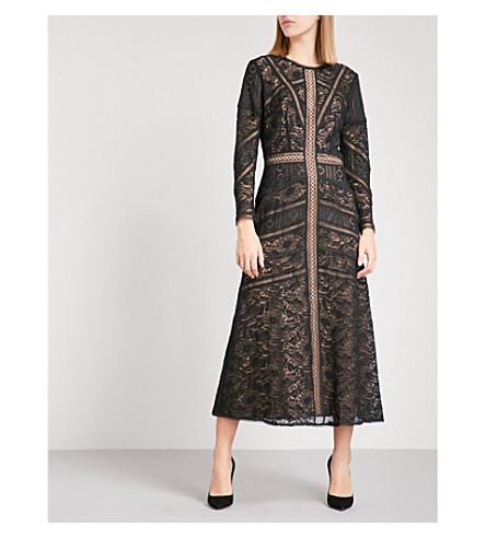 THE KOOPLES Openwork lace maxi dress (Bla01